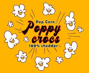 Poppy Crocs pop corn