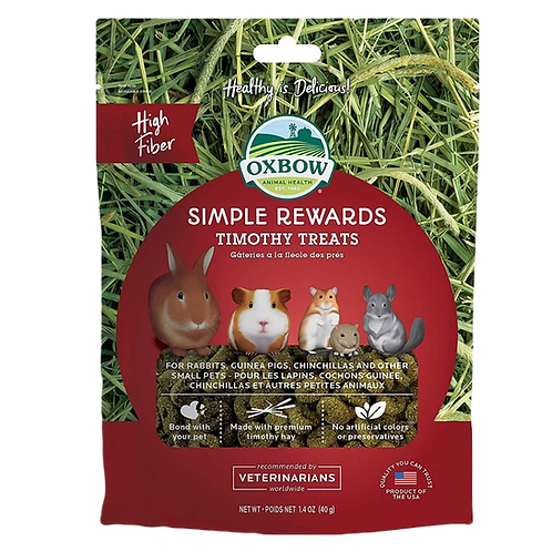 Gateries a la fleole des pres Simple Rewards Oxbow pour rongeurs Animal Expert St-Bruno