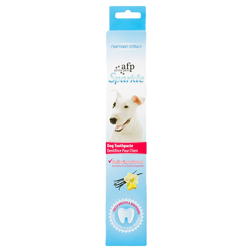 Dentifrice vanille gingembre Sparkle All For Paws pour chien Animal Expert St-Bruno