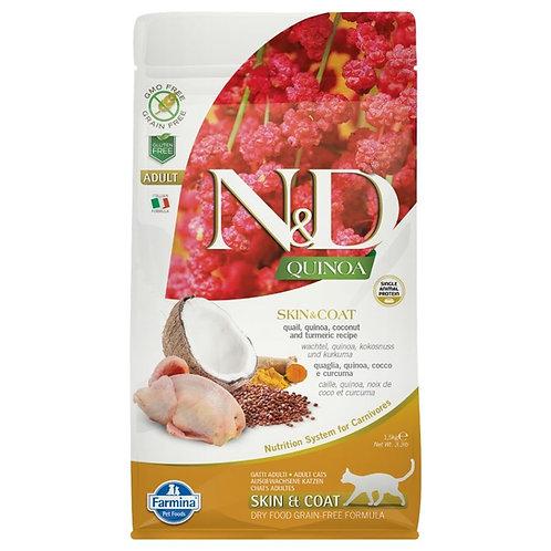 Farmina N&D Quinoa Sans Grain Chat Peau et Poils Caille
