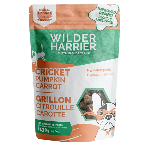 Gateries aux crickets citrouilles carottes Wilder Harrier pour chien Animal Expert St-Bruno