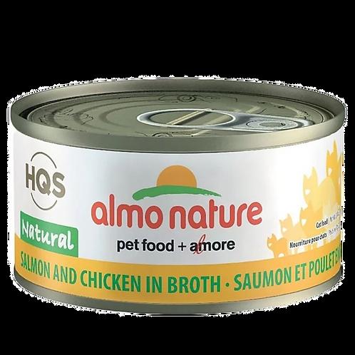 Saumon et poulet Almo Nature HQS complete pour chat Animal Expert St-Bruno