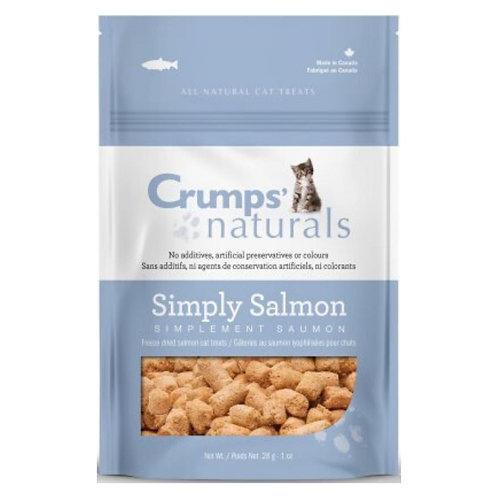 Gâterie Chat Simplement Saumon au Saumon Lyophilisées Crumps