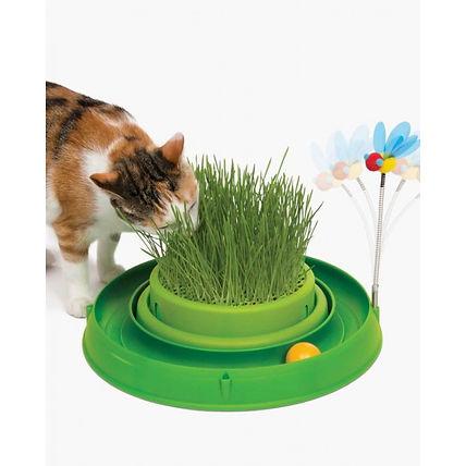 Jardinière d'herbe à chat avec jeux Catit Play