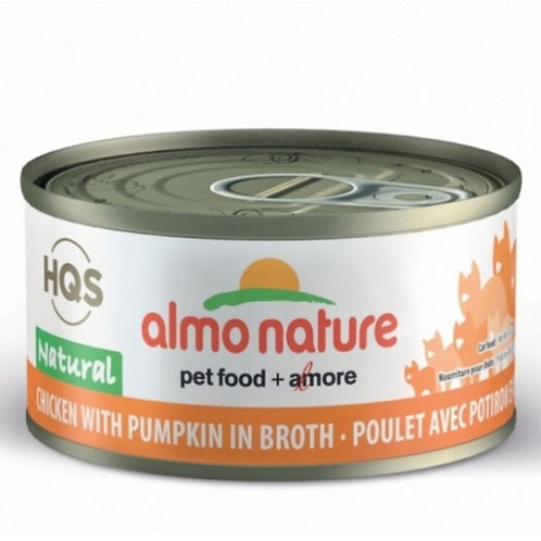 Poulet et potiron Almo Nature HQS complete pour chat Animal Expert St-Bruno