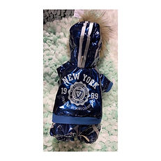 Manteau bleu imprimé New-York Dobaz Limited