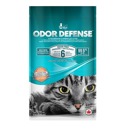 Litiere agglomerante Odor defense Cat Love pour chat Animal Expert St-Bruno