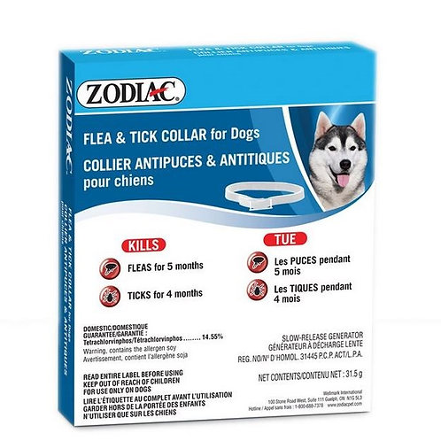 Zodiac Collier pour Chien Anti-Puces et Tiques