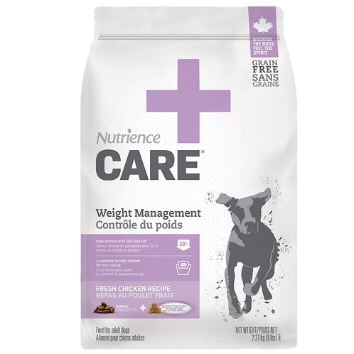 Controle du poids chien Nutrience Care Animal Expert St-Bruno