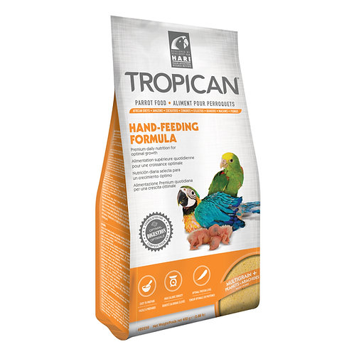 Aliment Hand-Feeding Tropican pour perroquets