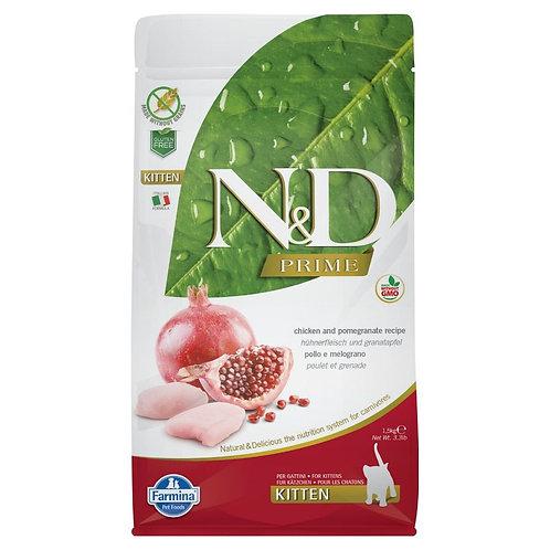 Farmina N&D Prime Sans Grain Chaton Poulet et Grenade