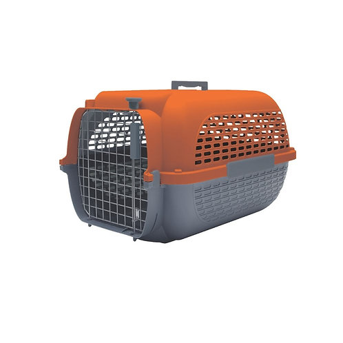 Cage voyageur orange/anthracite Dogit pour chien ou chat Animal Expert St-Bruno