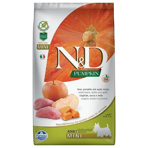 Farmina N&D Citrouille Sans Grain Chien Sanglier et Pomme Mini
