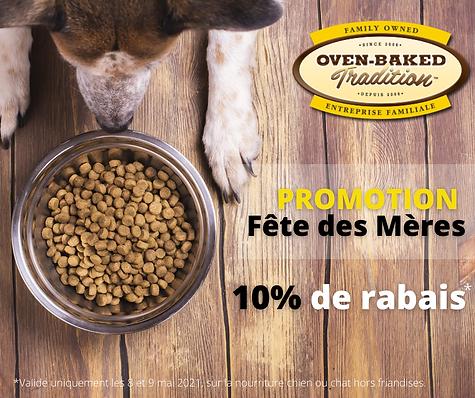 Promo Oven-Baked Tradition Fête des Mère