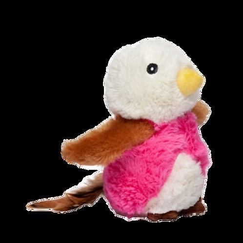 Peluche-forme-oiseau-rose-Budz-chat-Animal-Expert-St-Bruno