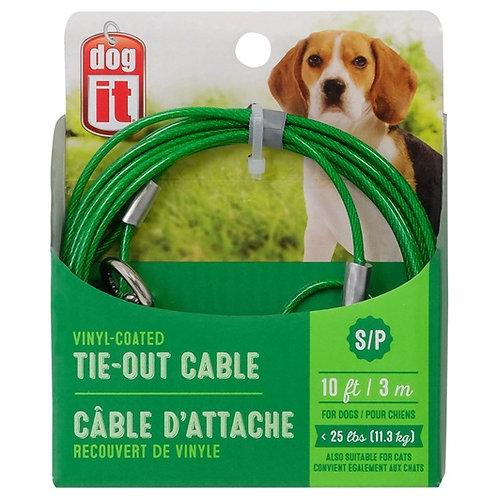 Cable d attache Dogit pour chiens de petite taille, vert Animal Expert St-Bruno