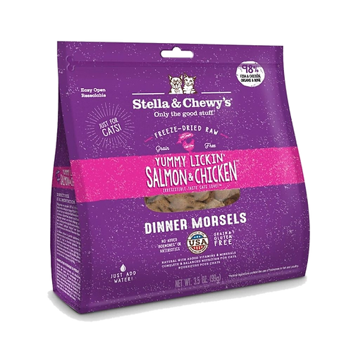 Diner-congele-saumon-poulet-Stella-Chewy-chat-Animal-Expert-St-Bruno