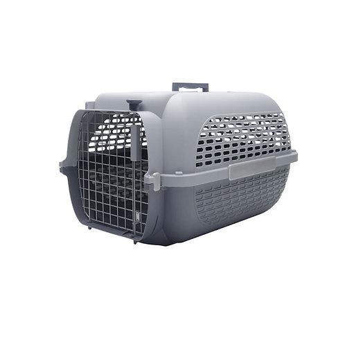 Cage voyageur deux tons de gris Dogit pour chien ou chat Animal Expert St-Bruno