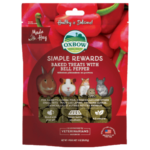 Gâteries bell pepper Simple Rewards d'Oxbow pour rongeurs
