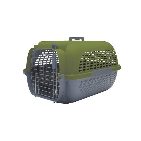 Cage voyageur kaki/anthracite Dogit pour chien ou chat Animal Expert St-Bruno