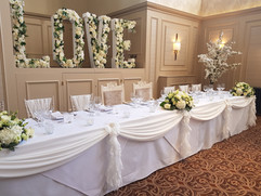 Top Table Dressing with ruffles