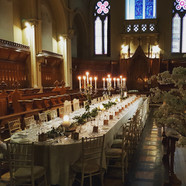 Banqueting style table dressing