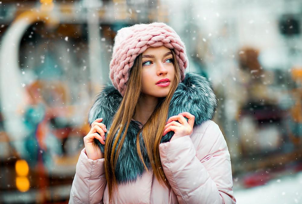 bokeh blur DSLR professional model female