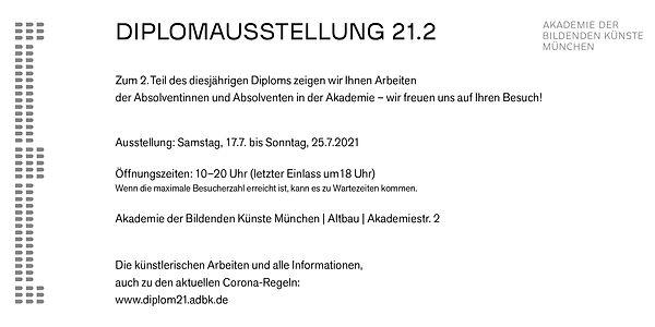 Diplom 2021 Akademie der bildenden Künste München Lukas Loske