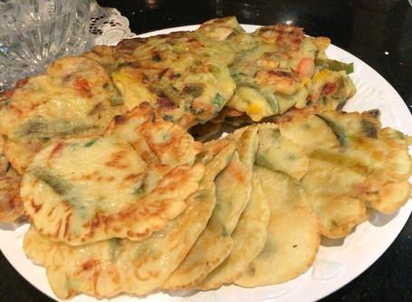 Haemul Pajeon (Seafood Scallion Pancakes)
