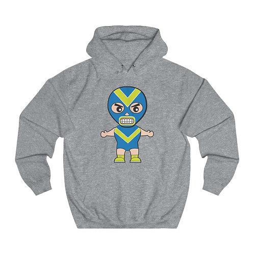 Blue Luchador Unisex College Hoodie