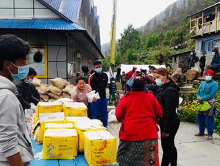 2020: Corona: Nahrungsmittelpakete für verletzliche Personen / Schutzmaterial für Healthpost