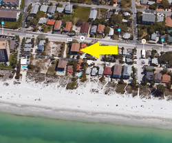 new aerial 812 Gulf Indian rocks beach vacation rental pets welcome