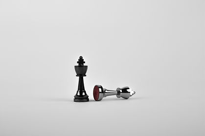 Canva - Two Silver Chess Pieces on White