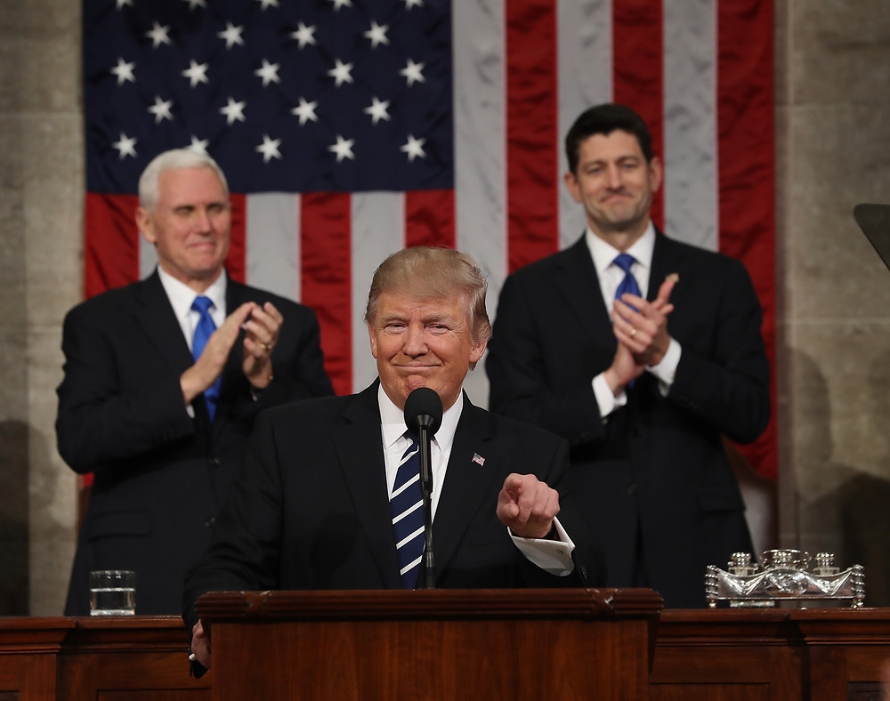 Pres. Trump delivers his first State of the Union Address.