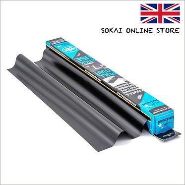 マジックホワイトボード ブラックタイプ 水性マーカー付き 全長8m (80cm×60cm×10枚入) 接着剤不使用 静電気で壁に貼りつく!
