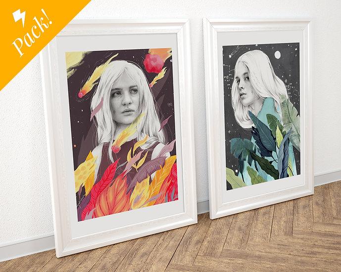 Pack 2 láminas de tamaño A3 (a elegir) // Pack of 2 A3 prints of your choice