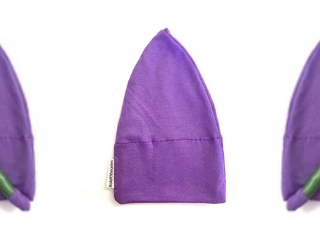 HeadWrappers Purple Plain Charity Chemo Hat