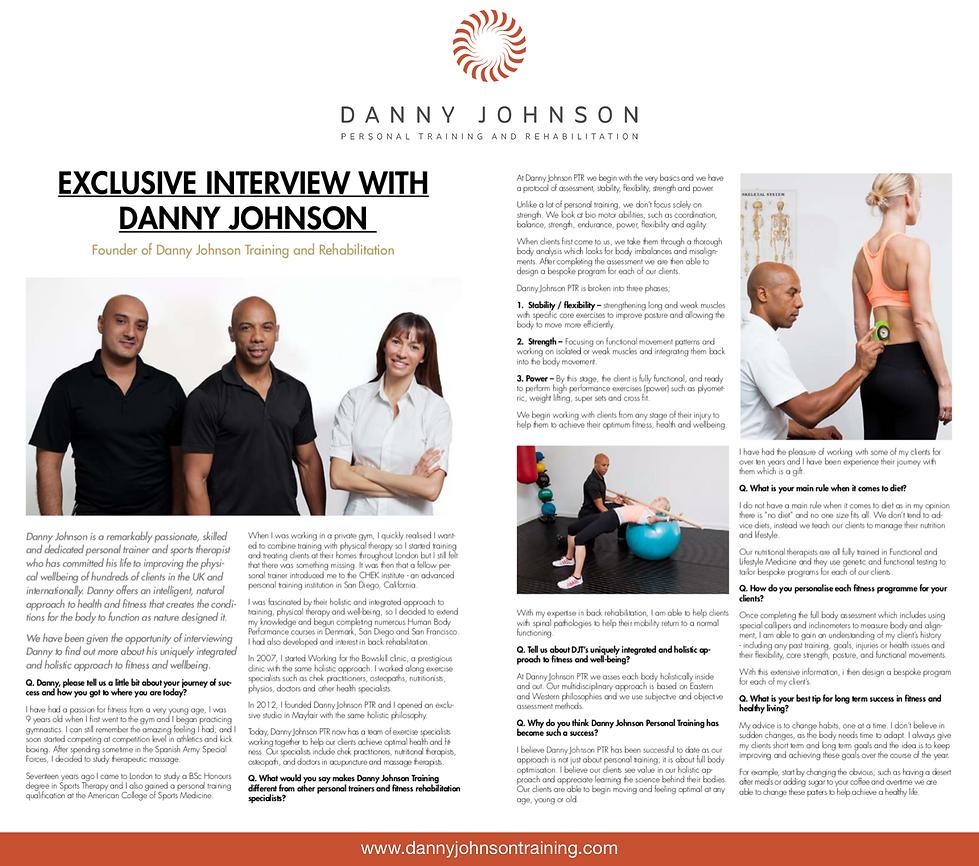 Danny Johnson Interview