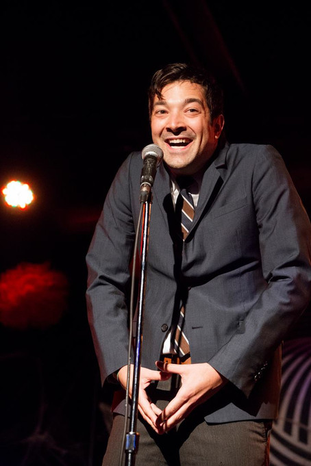 photo by Mindy Tucker - Jimmy Fallon impression at Schtick or Treat