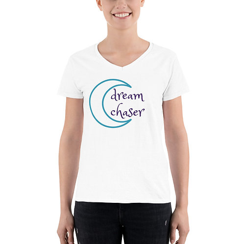 Dream Chaser Women's Casual V-Neck Shirt