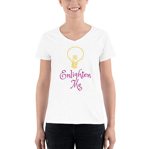 Enlighten Me. Women's Casual V-Neck Shirt