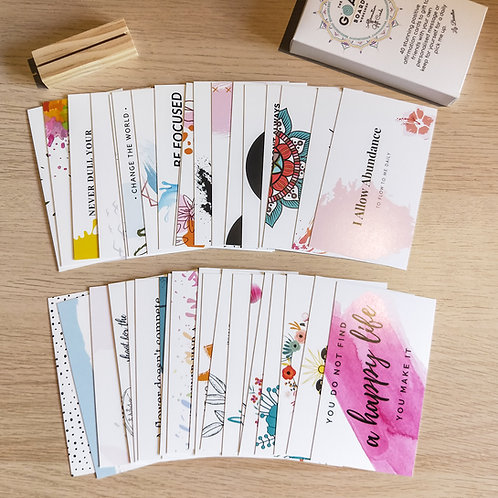 Affirmation thank you gift cards