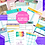 Thumbnail: Bright Complete collection of planner templates. (Personal, a5, a4, and letter)
