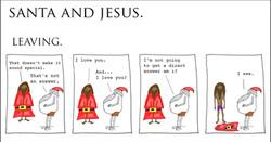 Santa and Jesus - Leaving.