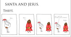 Santa and Jesus - Theft.