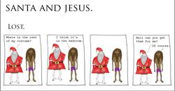 Santa and Jesus - Lost.