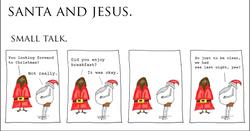 Santa and Jesus - Small Talk.