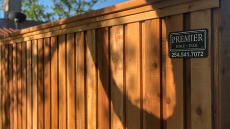 Western Red Cedar Board on Board, double layered trim, cap