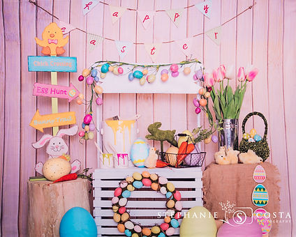 Easter Bunny's Stand - Easter Spring Mini Photos