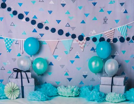 Blue Birthday Banners